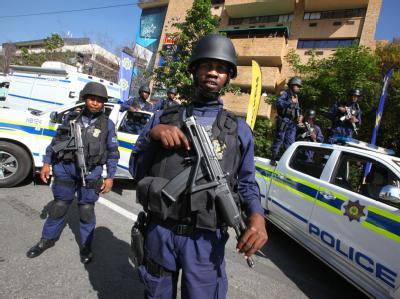 Südafrika gilt als eines der gefährlichsten Länder der Welt. Das Archivbild zeigt eine Einsatzübung für die Fußball-WM.