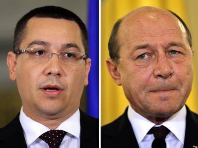Ponta und Basescu