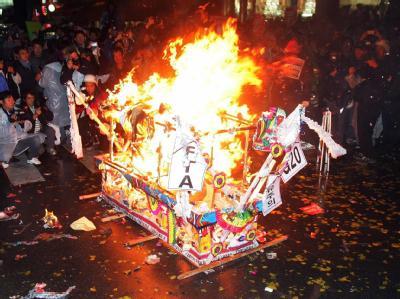 Demonstranten protestieren gegen den G20-Gipfel in der südkoreanischen Hauptstadt Seoul.