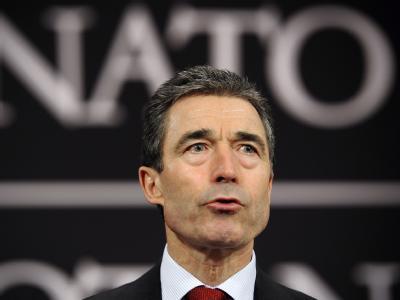 Der Nato-Generalsekretär Anders Fogh Rasmussen: Das Nordatlantische Bündnis hat sich auf die Übernahme des Kommandos über die Flugverbotszone über Libyen geeinigt.