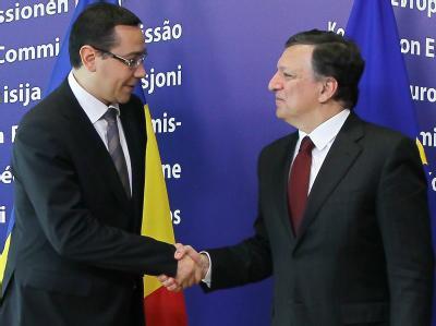 Ponta und EU- Kommissionspräsident José Manuel Barroso  wollen reden: Die EU ist über die Entwicklungen in Rumänien besorgt. Foto: Julien Warnard