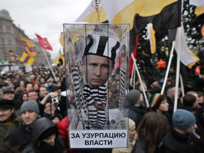 Demonstration in Russland