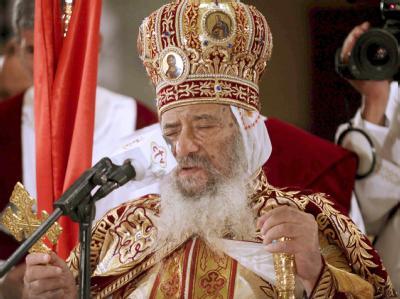 Papst Schenuda III. beim Osterfest im Jahr 2009. Foto: Mohamed Omar
