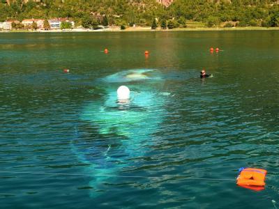 Suche nach weiteren Opfer des Schiffsunglücks auf dem Ohrid-See.