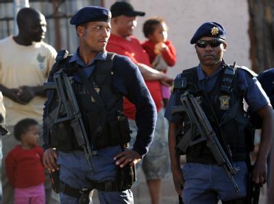 Polizei-Präsenz während der WM in Südafrika.