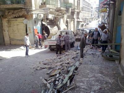 Zerstörungen in Hama