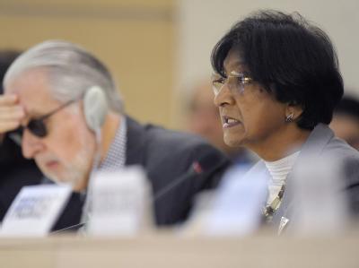 Die UN-Hochkommissarin f�r Menschenrechte Navi Pillay