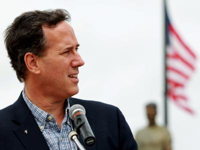 Rick Santorum wirft das Handtuch. Foto: Kamil Krzaczynski