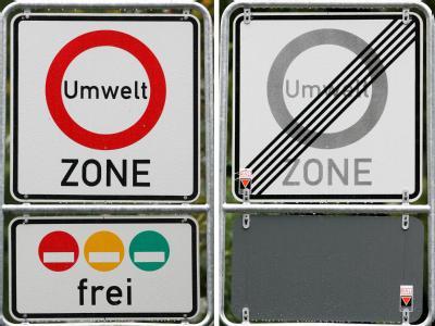 Trotz inzwischen mehr als 50 Umweltzonen ist die Luft in Deutschland 2011 zu stark mit Feinstaub und Stickstoffdioxid belastet gewesen. Foto: Roland Weihrauch/Archiv