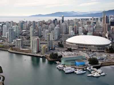 Luftaufnahme vom BC Place-Stadion in Vancouver.