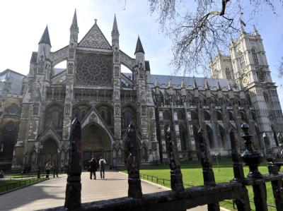 Ort der Trauung: Westminster Abbey in London.