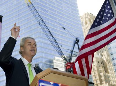 Protest am Ground Zero - Geert Wilders