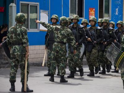 In der Provinzhauptstadt Ürümqi und anderen Teilen Xinjiangs wurden hunderte Menschen festgenommen.