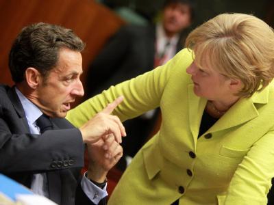 Nicolas Sarkozy und Angela Merkel wollen die Begrenzung der Banker-Boni vorantreiben.