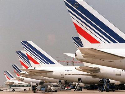 Air France-Flotte auf dem Pariser Flughafen Charles de Gaulle (Archiv).