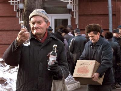 Schnapsverkauf in Moskau