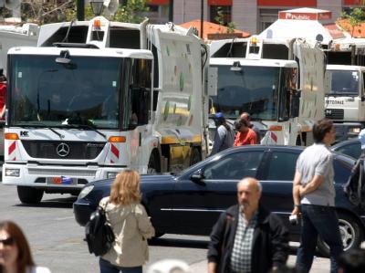 Streik der Müllabfuhr in Athen.