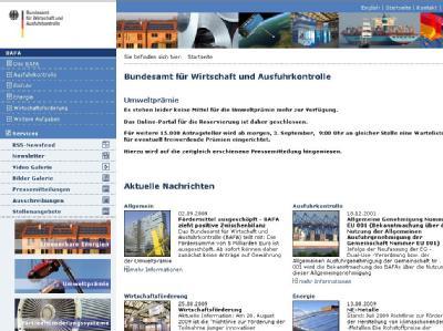 Bafa-Webseite