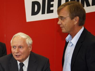 Gegenspieler: Linke-Bundesgeschäftsführer Dietmar Bartsch (r.) und Oskar Lafontaine.
