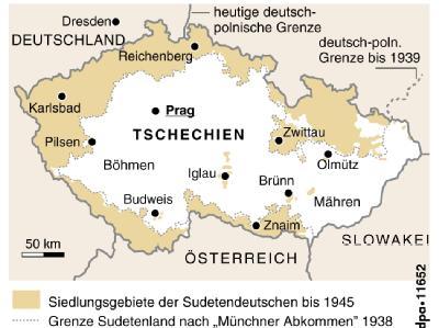 Die Siedlungsgebiete der Sudeten