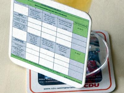 Auch die Steuererklärung auf dem Bierdeckel hat die CDU bislang nicht umgesetzt. (Archiv)