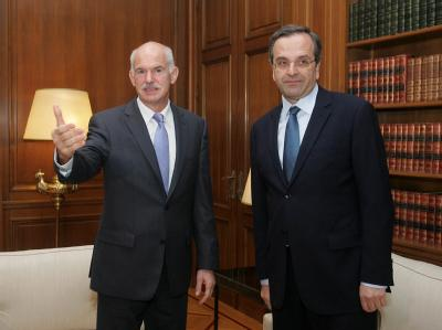 George Papandreou und Antonis Samaras