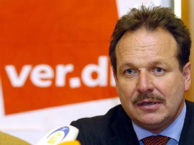 Der Vorsitzende der Dienstleistungsgewerkschaft ver.di, Frank Bsirske.