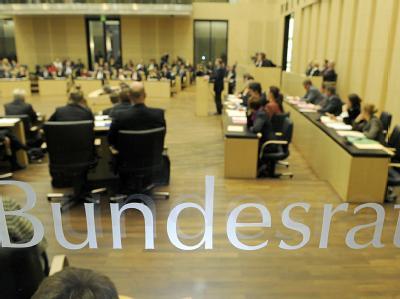 Blick in eine Sitzung des Bundesrates in Berlin.