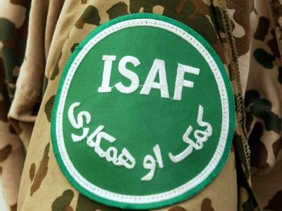 Das Abzeichen der Internationalen Schutztruppe ISAF