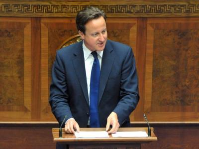 Großbritanniens Premier Cameron hat seine Landsleute aufgerufen, angesichts der Olympischen Spiele in London und des 60. Thronjubiläums der Queen so richtig loszulegen.