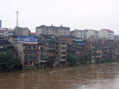 Heftiger Regen hatte die Fluten verursacht: In Hunan zerstörten die Wassermassen  Hunderte von Häusern.
