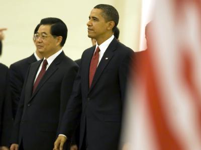 «Fruchtbare Gespräche» in Peking: US-Präsident Obama und Chinas Staatschef Hu demonstrierten Einigkeit in Peking. Es gibt jedoch Spannungen in Handelsfragen.