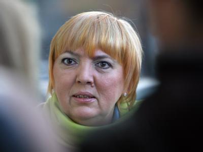 Die Grünen-Bundesvorsitzende Claudia Roth