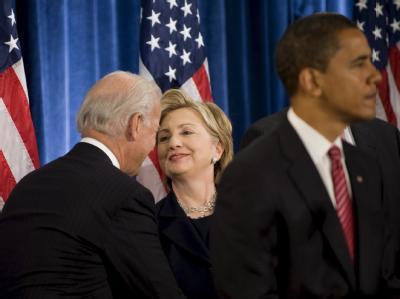 Biden und Clinton