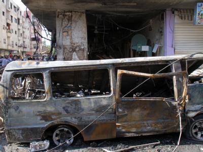 Nach Angaben einer Menschenrechtsorganisation sind allein im August 5000 Syrer ums Leben gekommen. Die meisten von ihnen waren Zivilisten. Foto: Stringer