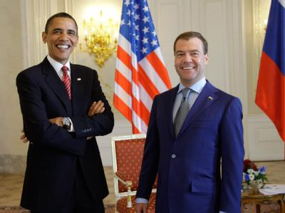Barack Obama und Dmitri Medwedew