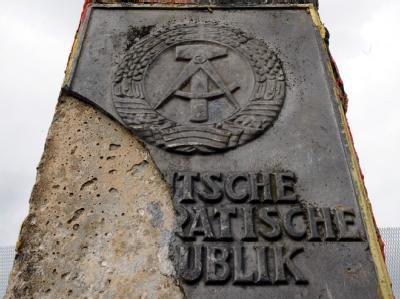 Früherer DDR-Grenzstein: Der Versuch, das