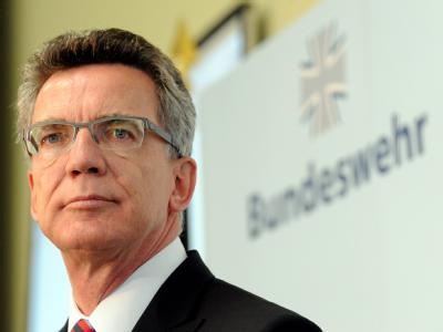 «Die Entscheidung darüber liegt bei ihm»: Bundesverteidigungsminister Thomas de Maizière. Archivfoto: Maurizio Gambarini