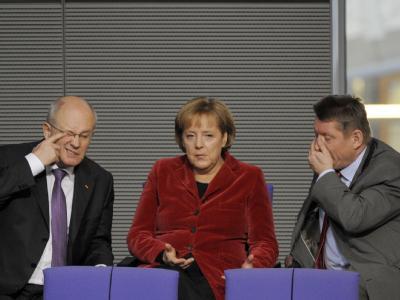 Kauder, Merkel und Gröhe