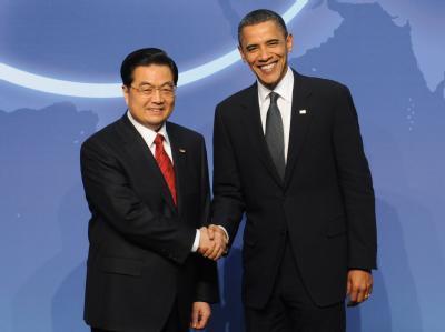 Laut Forbes die beiden mächtigsten Menschen des Planeten: Chinas Präsident Hu Jintao (l) und US-Präsident Barack Obama.