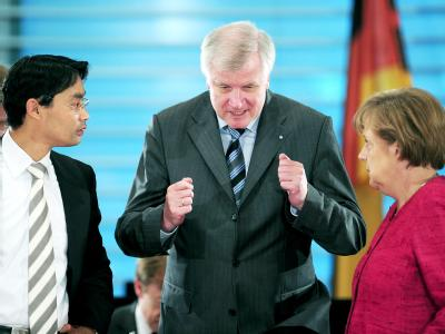 R�sler, Seehofer und Merkel