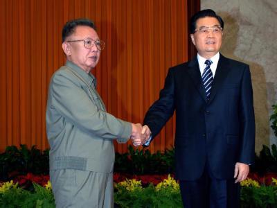 Kim Jong Il und Hu Jintao