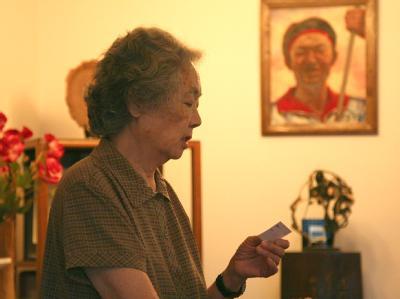 Die chinesische Bürgerrechtlerin Ding Zilin (Foto vom 21.5.2009).