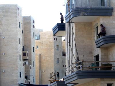 Israelische Siedlung Har Homa im Süden von Jerusalem. Israels Bautätigkeit belastet die Friedensgespräche mit den Palästinensern.