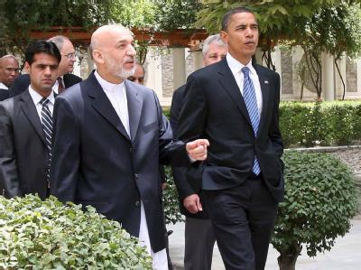 US-Präsident Barack Obama hat Hamid Karsai zu Reformen ermutigt. (Archivbild)
