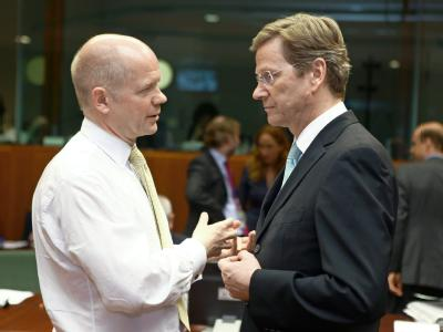 William Hague und Guido Westerwelle