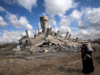Zerst�rte H�user im Gazastreifen