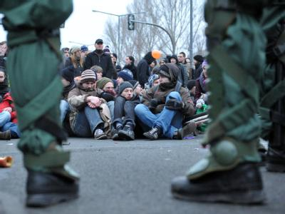 Proteste in Dresden