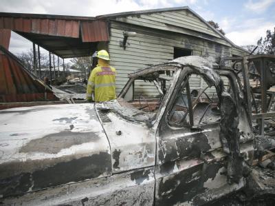 Waldbrände im Westen Australiens haben Häuser zerstört. Die Polizei vermutet Brandstifter als Verursacher des Brandes. (Archivbild)