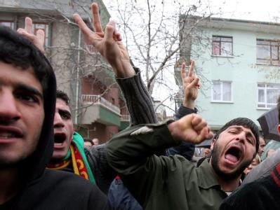 Pro-kurdische Demonstranten